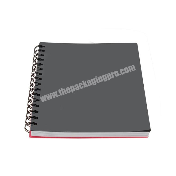 Factory Logo printed cardboard  hard cover custom notebook