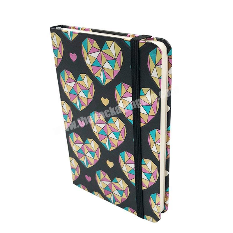 Love Heart A6 Mini Pocket Diary Notebook With Elastic Band In Stock