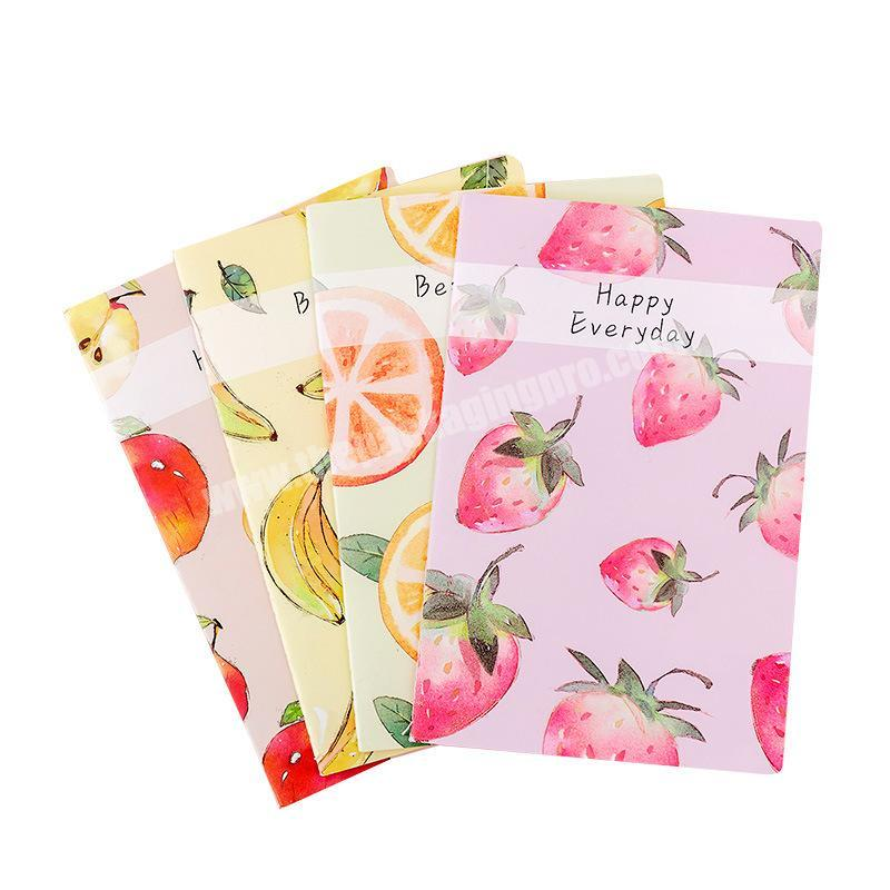 Lovely fruits printing school A5 notebooks