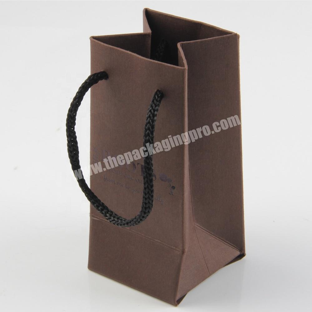 Custom low cost production custom size small christmas jewelry gift paper bag