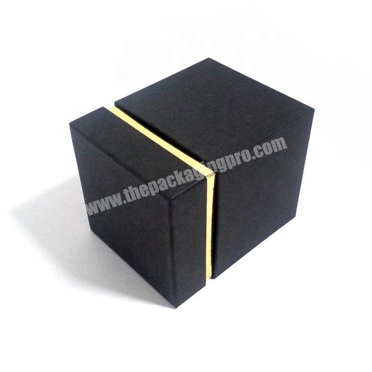 Luxury Black 2 Piece Cardboard Paper Packaging Lid Base Candle Storage Gift Box