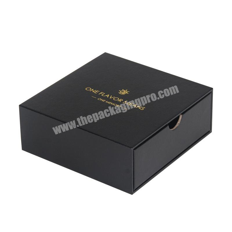 Luxury Cardboard Packaging Boxes for Perfume Bottle Slider box Drawer Package design