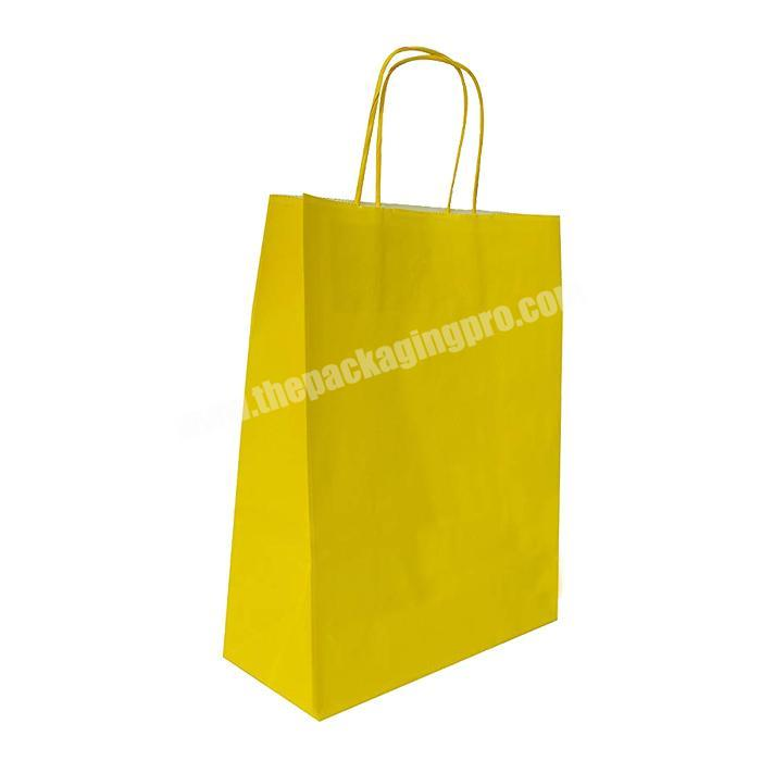 Luxury christmas customize kraft paper tote bag print carry bags for retail with handle