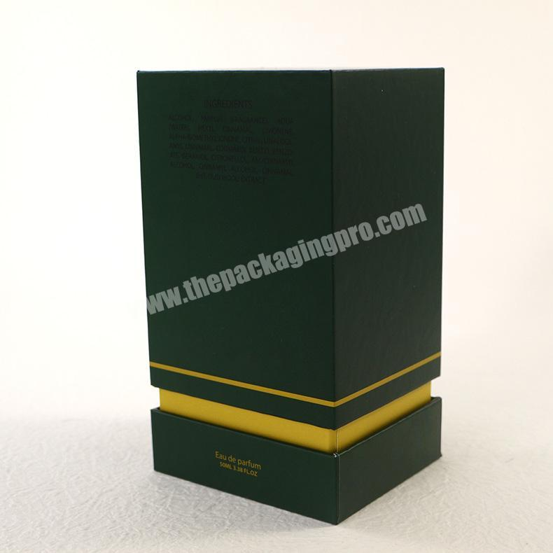 Supplier Luxury colonge arabic perfume bottle with embossing and flocking perfume packaging box