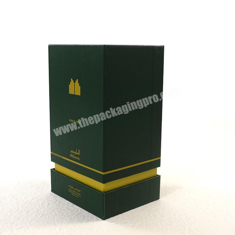 Factory Luxury colonge arabic perfume bottle with embossing and flocking perfume packaging box