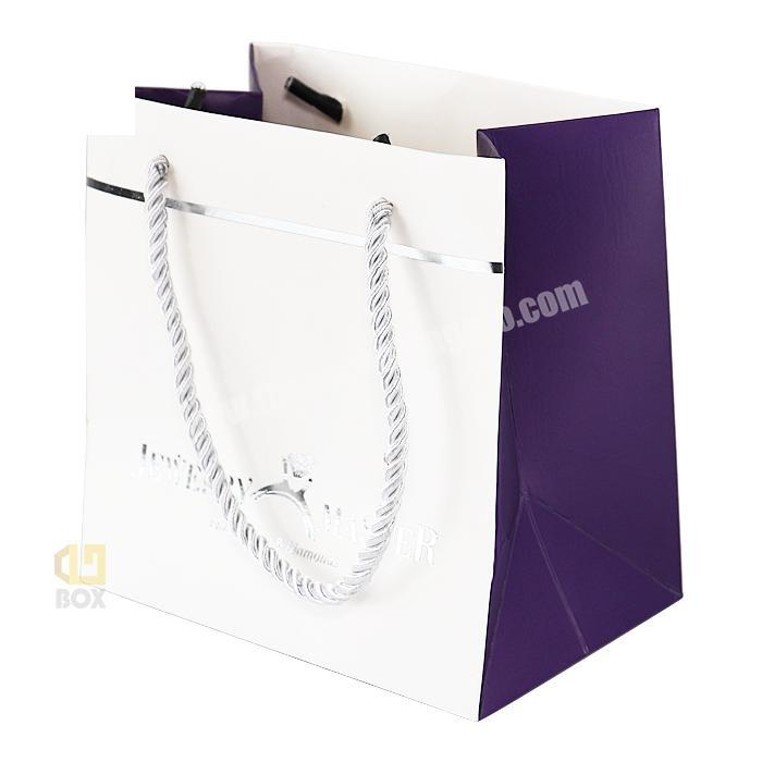 Luxury colorful gloss paper bags free sample retail CrownWin Packaging
