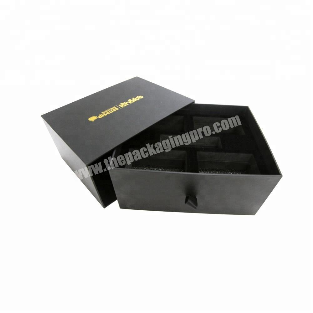 Luxury custom handmade jewelry packaging cardboard drawer gift box and pouch