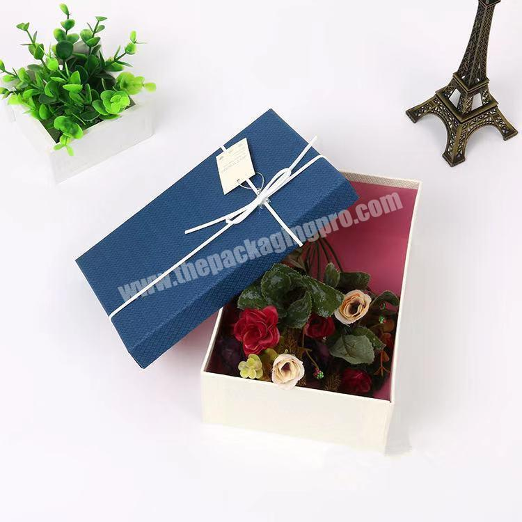 Luxury custom high-grade magnetic square with cover high gloss white flat folding cardboard gift box