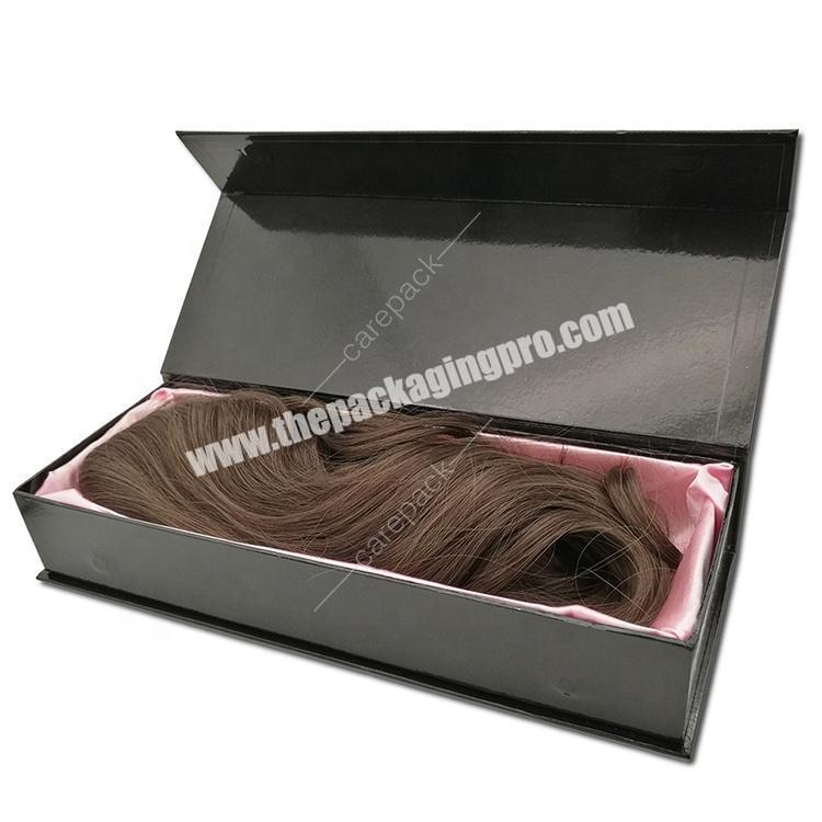 Luxury Custom label  Hair extension Wigs Hair Bundle packaging boxes with display window
