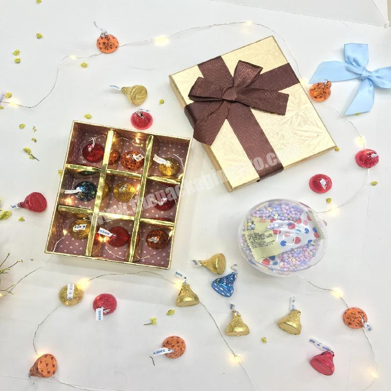 Luxury Custom Paper Gift Box Chocolate Box With Paper Divider