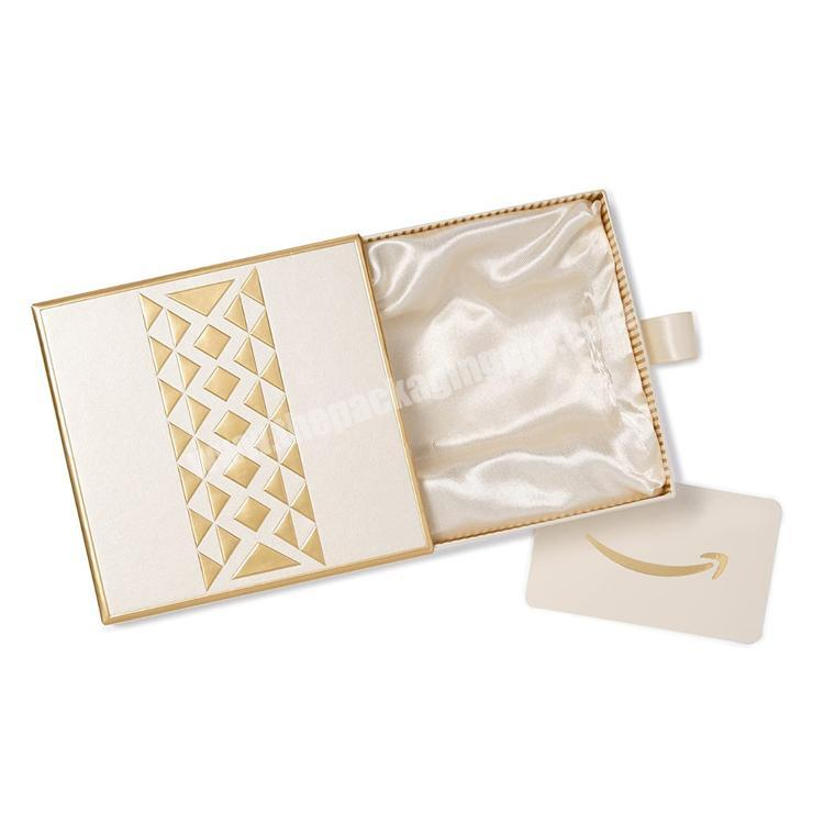 Luxury Custom Presentation Gift Boxes Various Sizes Custom Drawer Rigid Box with hot stamping logo