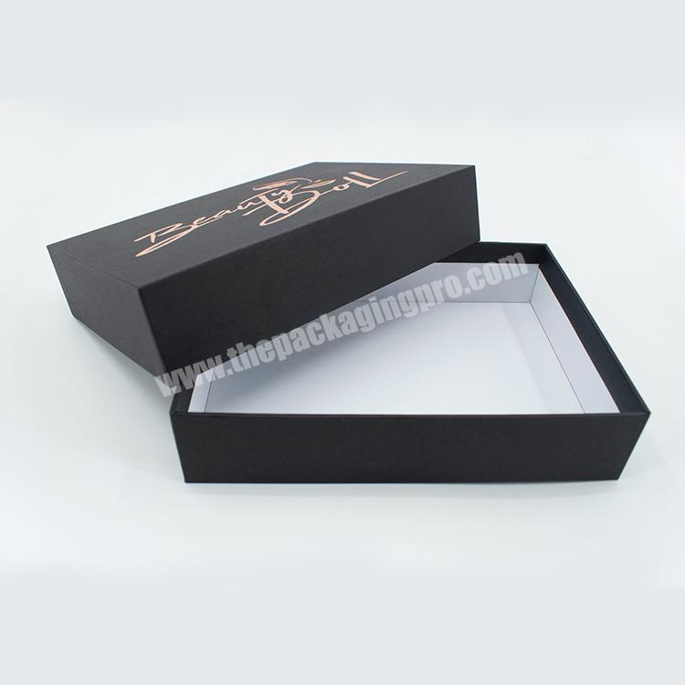 Luxury custom printed gold stamping lid and base cardboard gift box for christmas