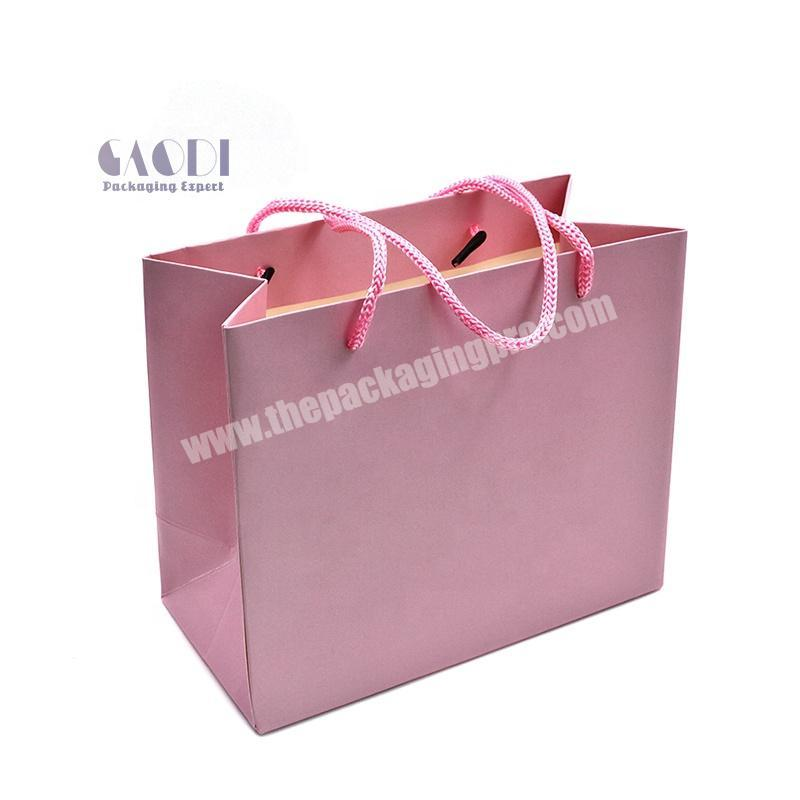 Luxury Customized Printed Own Logo Clothes Dress Packaging Underwear Shopping Paper Bags For Garment