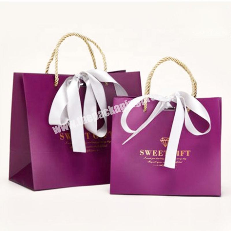 Luxury Famous Brand Customized Fashion Printed Gift Shopping Paper Bag For Packaging Clothes