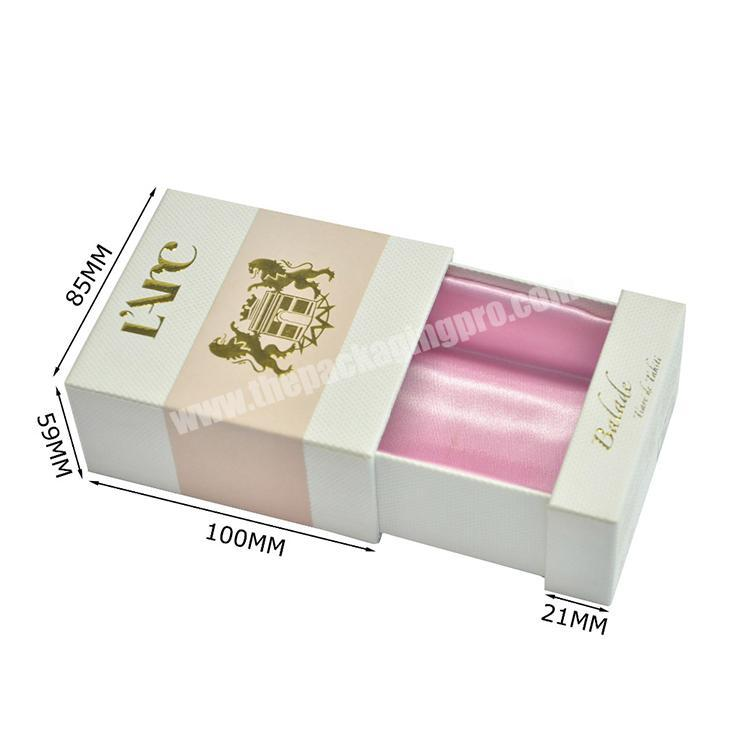Luxury Gift Ribbon Decoration Drawer Paper Box For Perfume Packaging