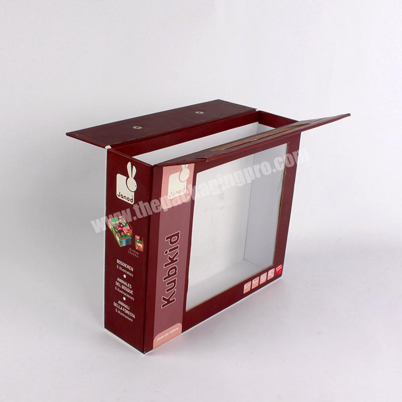 Luxury Handle Paper Packing Box Foldable Package with Window