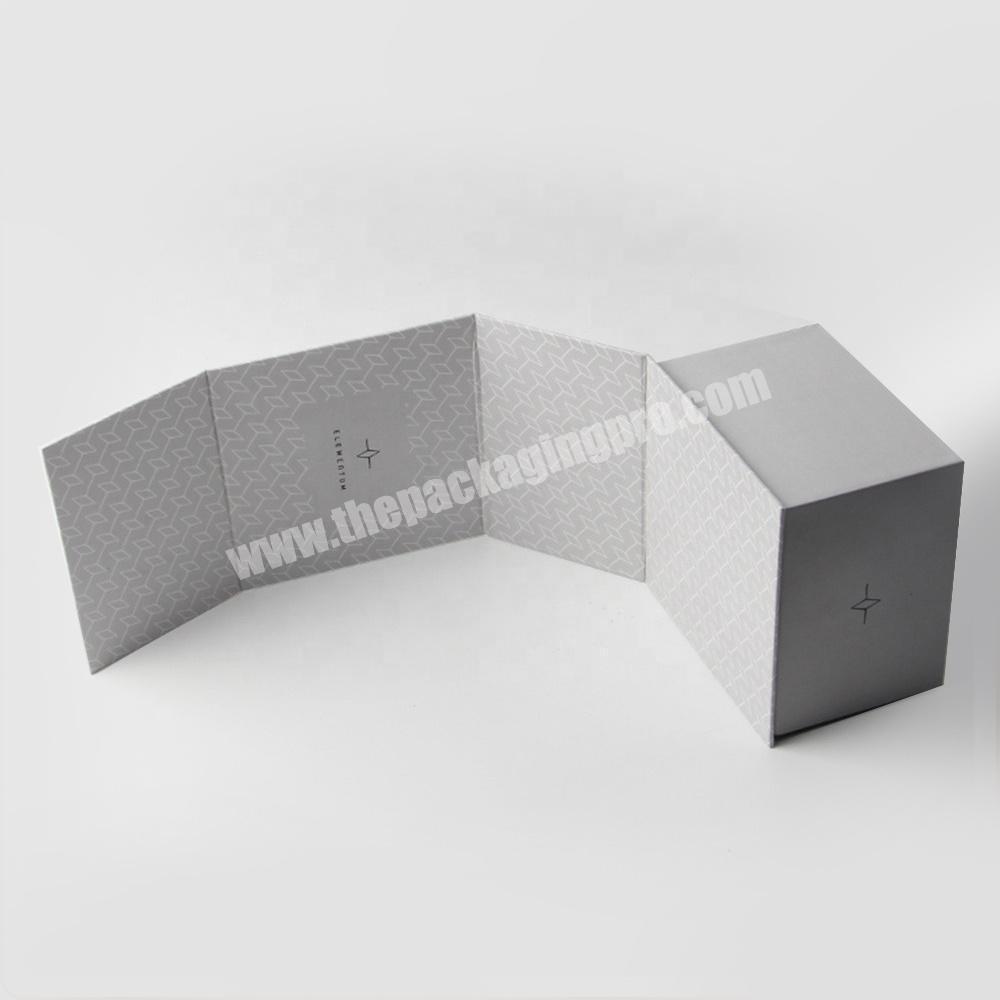 Factory luxury ivory EVA diecut perfume packaging paper box