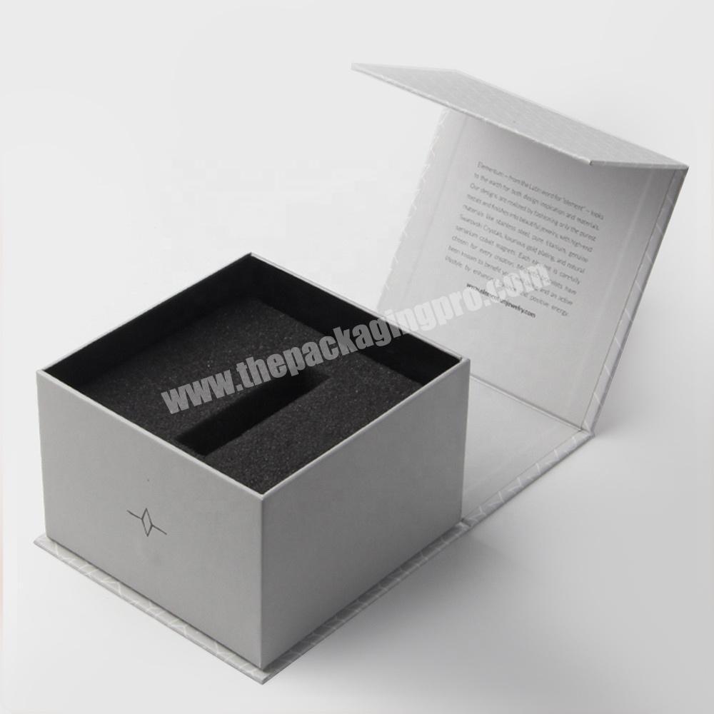 Wholesale luxury ivory EVA diecut perfume packaging paper box