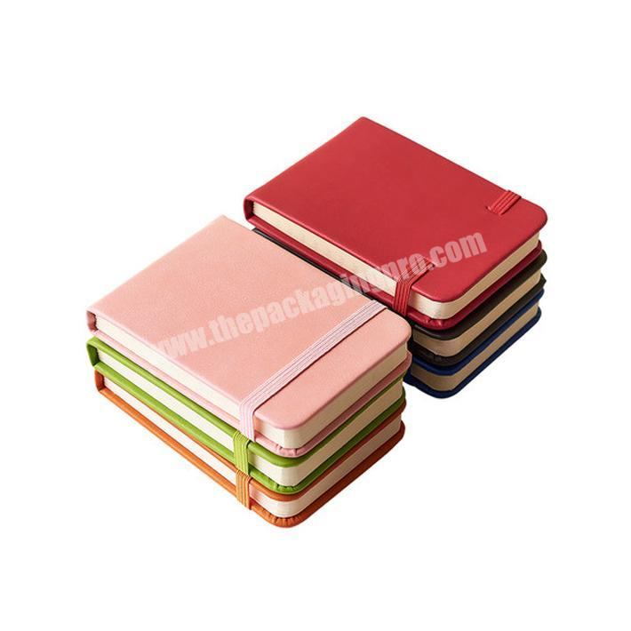 Luxury leather schedule planner notebook with elastic band