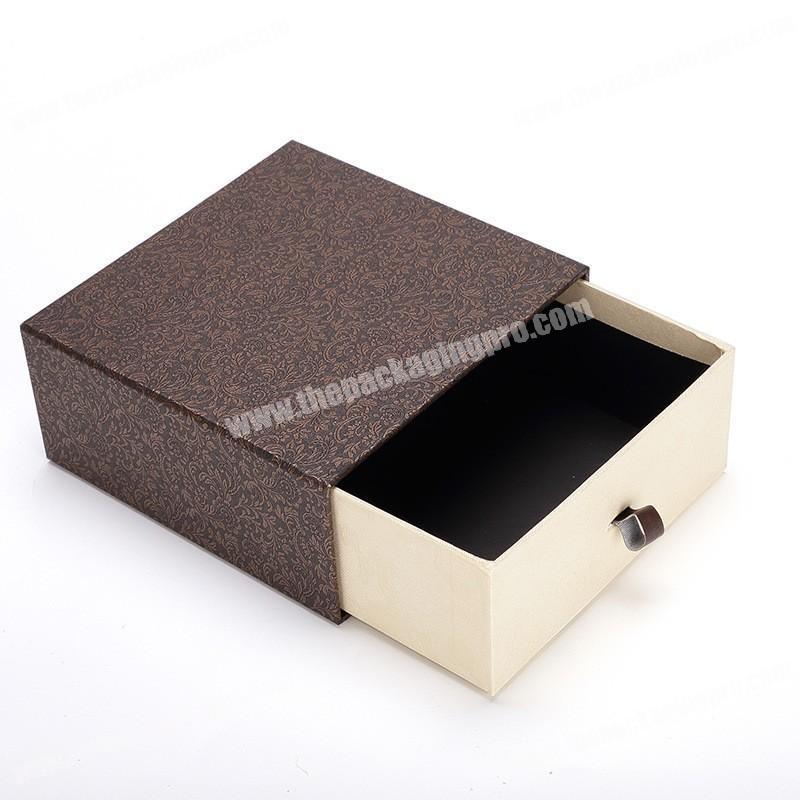 Luxury logo printed cardboard paper gift box drawer sleeve custom sock packaging