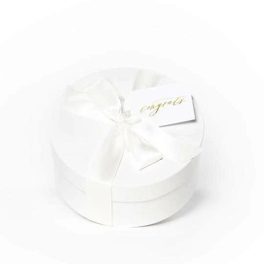 Manufacturer Luxury New Born Baby Shower Gift Packaging Design Round Baby Gift Box With Ribbon