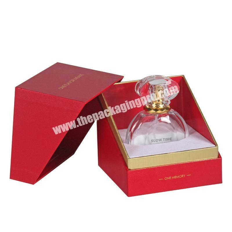 Luxury New Design Perfume Box Custom Printed Paper Perfume Gift Box With Foam