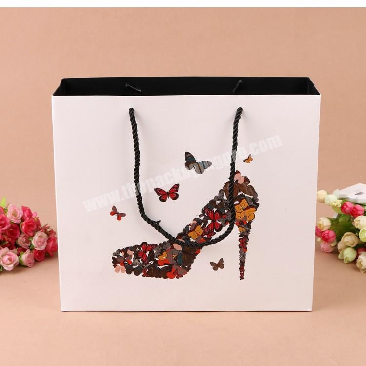 Luxury packaging custom printing soft touching gift bag with butterfly