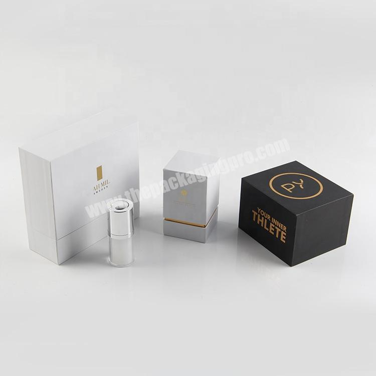 luxury paper wedding gift boxes perfume lipstick cosmetic packaging sets for guest