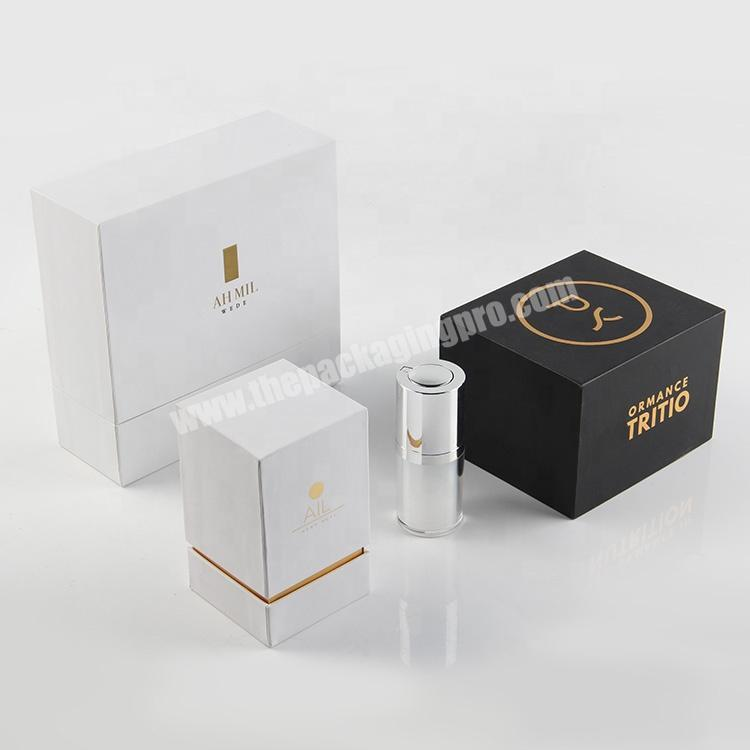 Factory luxury paper wedding gift boxes perfume lipstick cosmetic packaging sets for guest