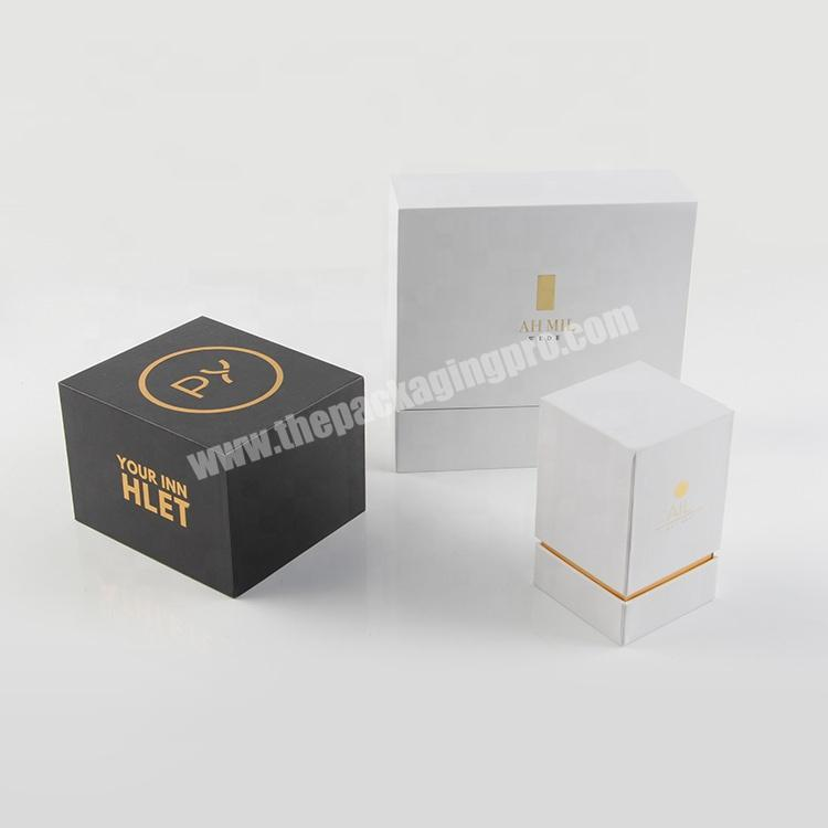 Manufacturer luxury paper wedding gift boxes perfume lipstick cosmetic packaging sets for guest