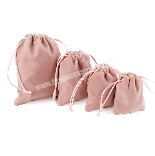 Luxury velvet jewelry storage bags small accessories collected Drawstring Pouches