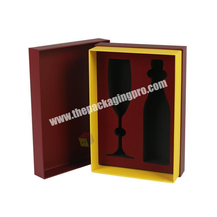 luxury wine glass and wine bottle gift boxes set