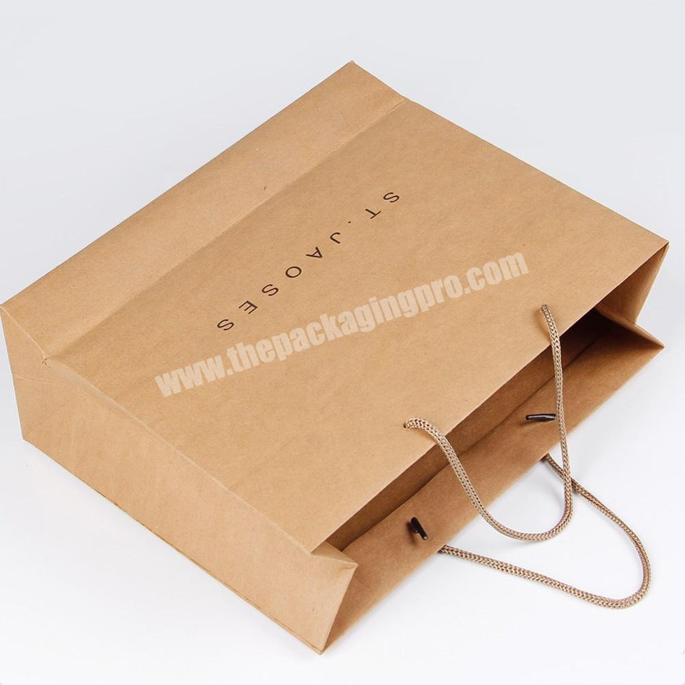 Machine make recycle kraft paper gift bags custom for retails