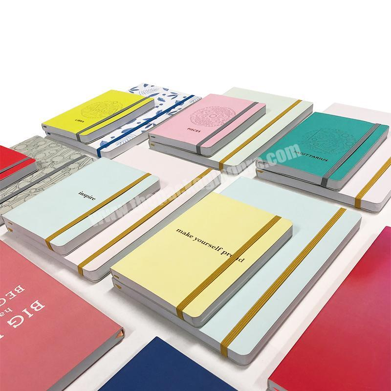 Manufacturer Colorful Cover Diary Hardcover Planner A5 Custom Foil Printed Logo Notebook