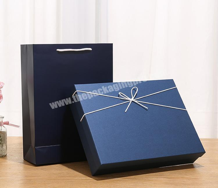 Manufacturer custom rectangular blue gift box, empty box gift box