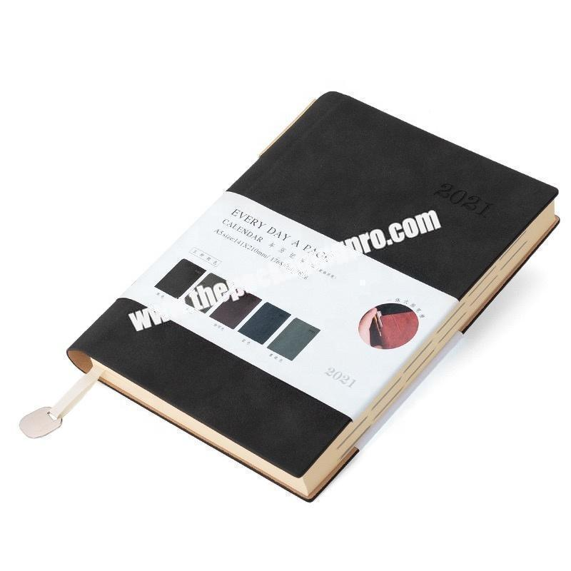 Manufacturer Journal Diary A6 A5 A4 Custom Handmade Embossed Soft Pu Leather Notebook Weekly Planner and 2021 Year Diary