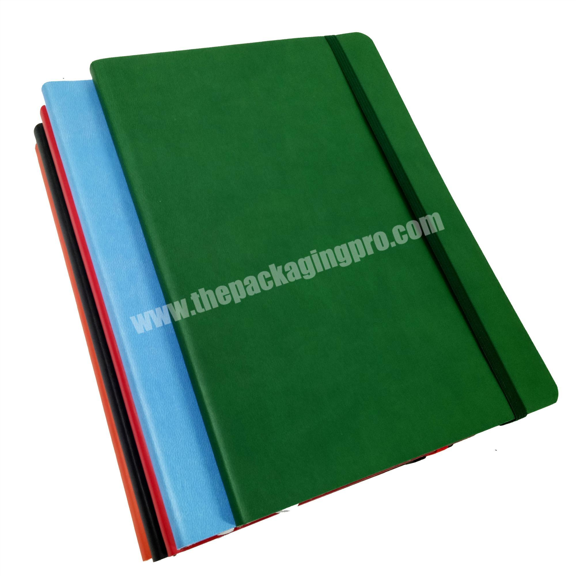 Manufacturer leather cover notebook customized pages diary A5 journal with pocket