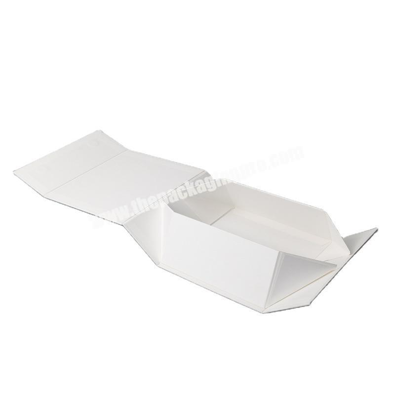 Manufacturers spot hot sale white foldable space saving clothing gift box shoes and gift box