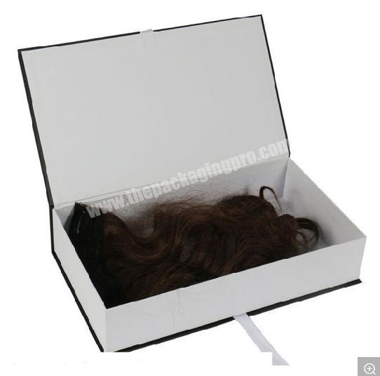 Custom Manufacturing Custom Luxury Hair Extension Gift Packaging Box with Silk