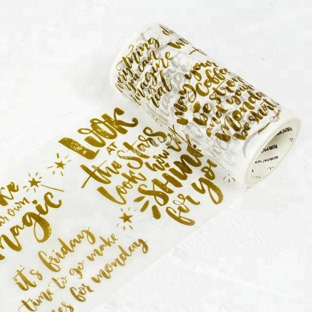 Meaningful decorative sentence gifts custom printed japanese washi tape wholesale