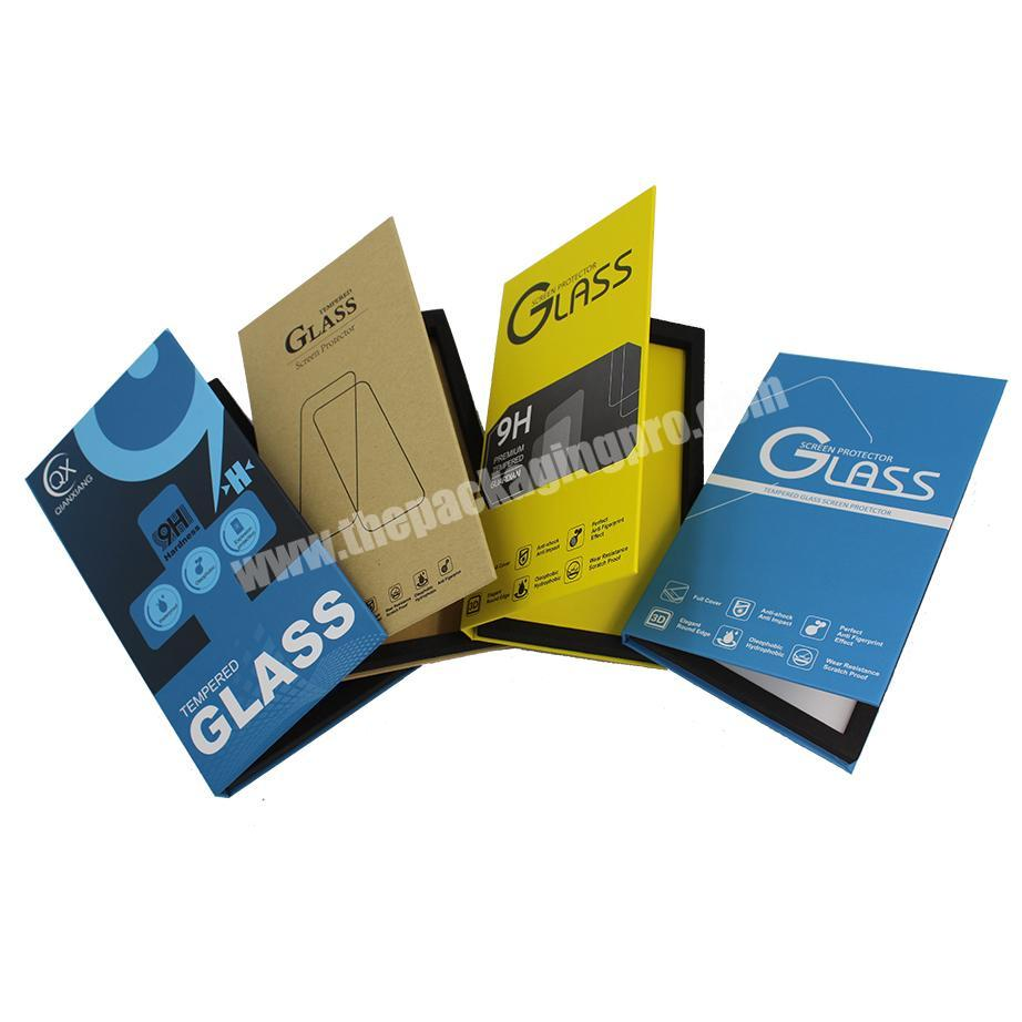 Mobile Phone Tempered Glass Retail Kraft Paper Screen Protector Packaging Box