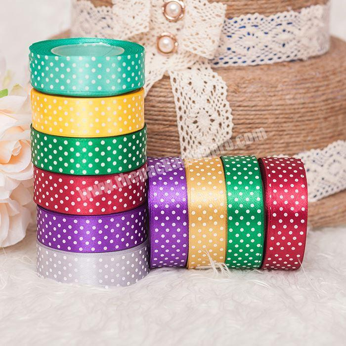 Multicolor Printed 100% Polyester Fabric Satin Ribbons