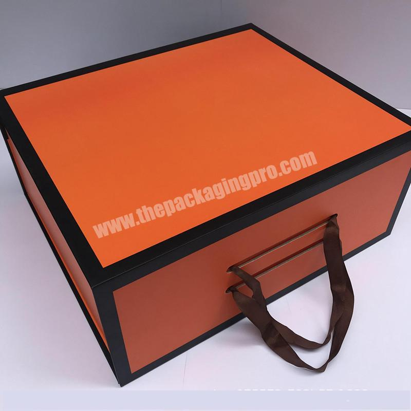 New Creative Folding Flat Pack Cardboard Boxes Shoes Portable Bag Packing Boxes
