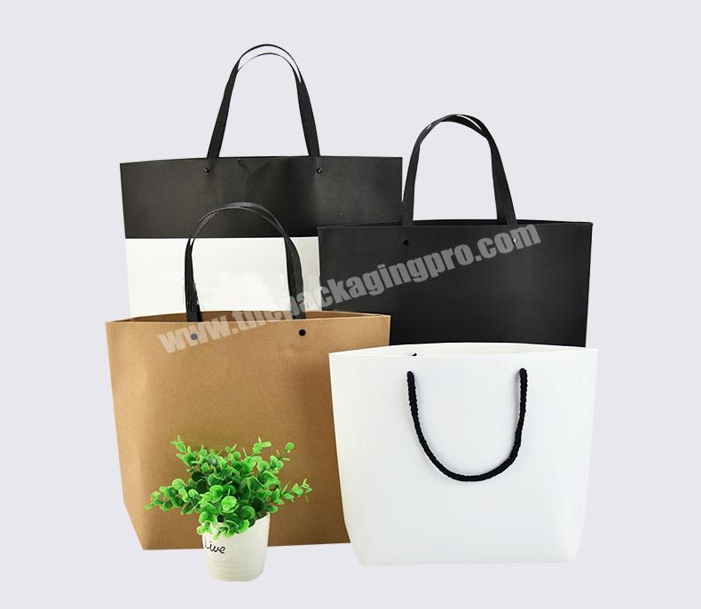 New Design Custom Printing Recyclable Kraft Paper Bag with Handle