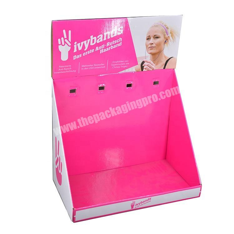 New design eco-friendly advertising pop cardboard display for cosmetic electronic products Paper corrugated display