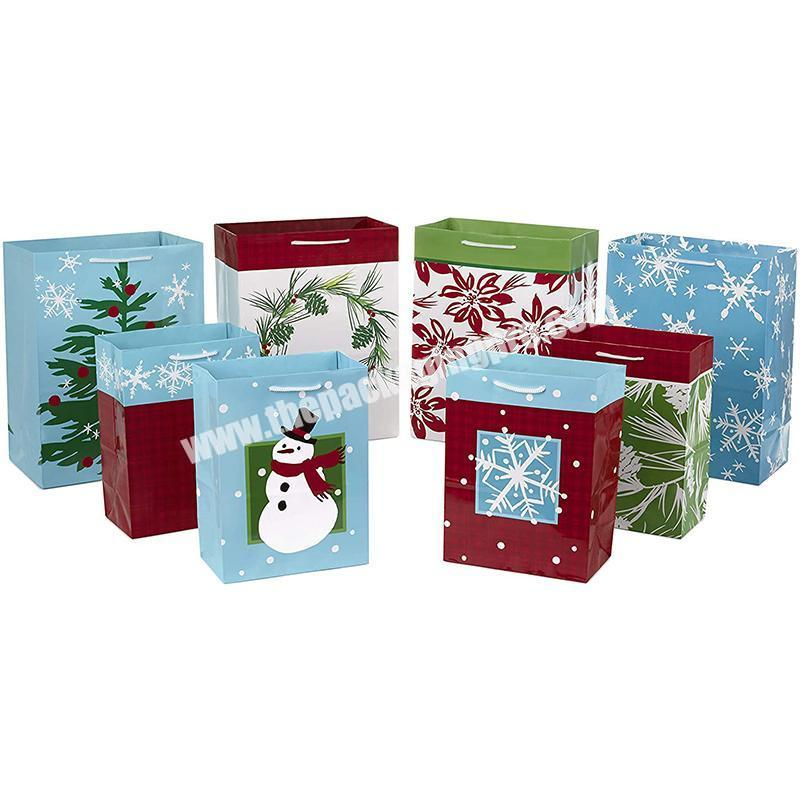 New design eco friendly gift paper bag christmas