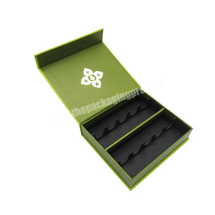 New design Fashion gift box green magnetic packaging box