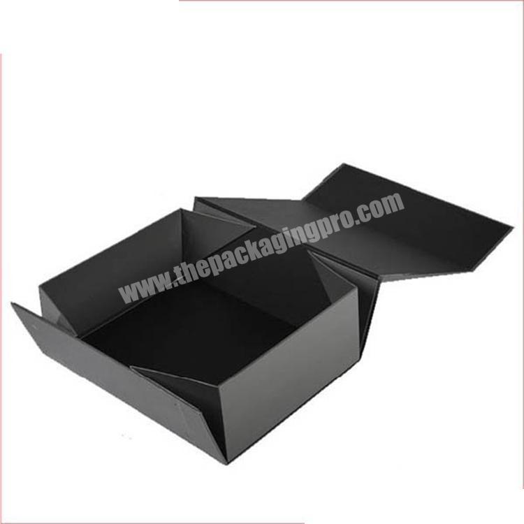 New Hot Stamping Customized Printing Paper Folding Box With Magnetic Ribbon Close