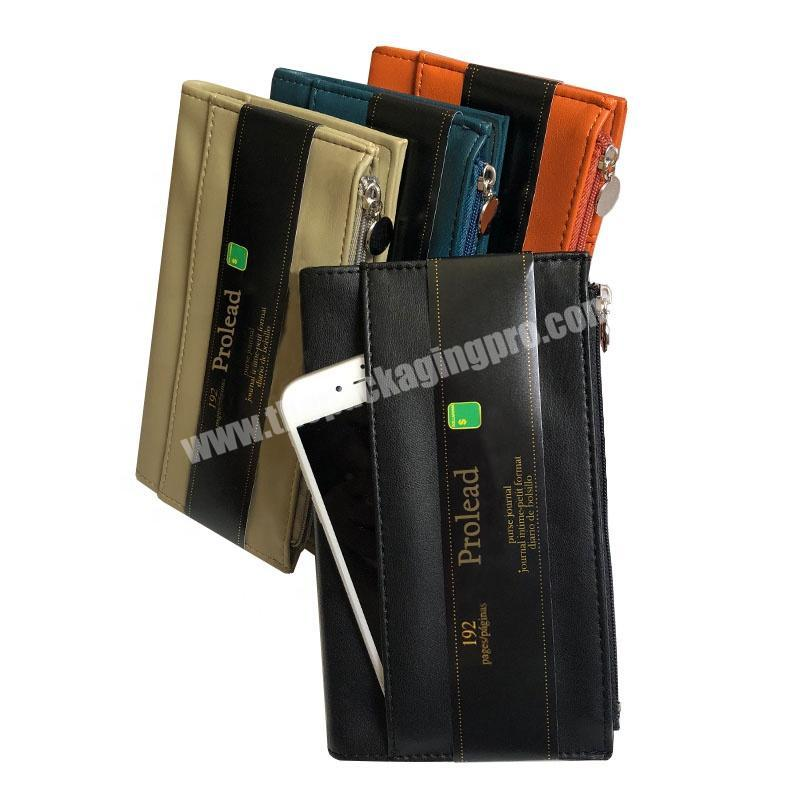 New Product 2020 Multifunctional Soft Cover Pocket Notebook for Business Woman Credit Card Wallet FSC Certified  Paper