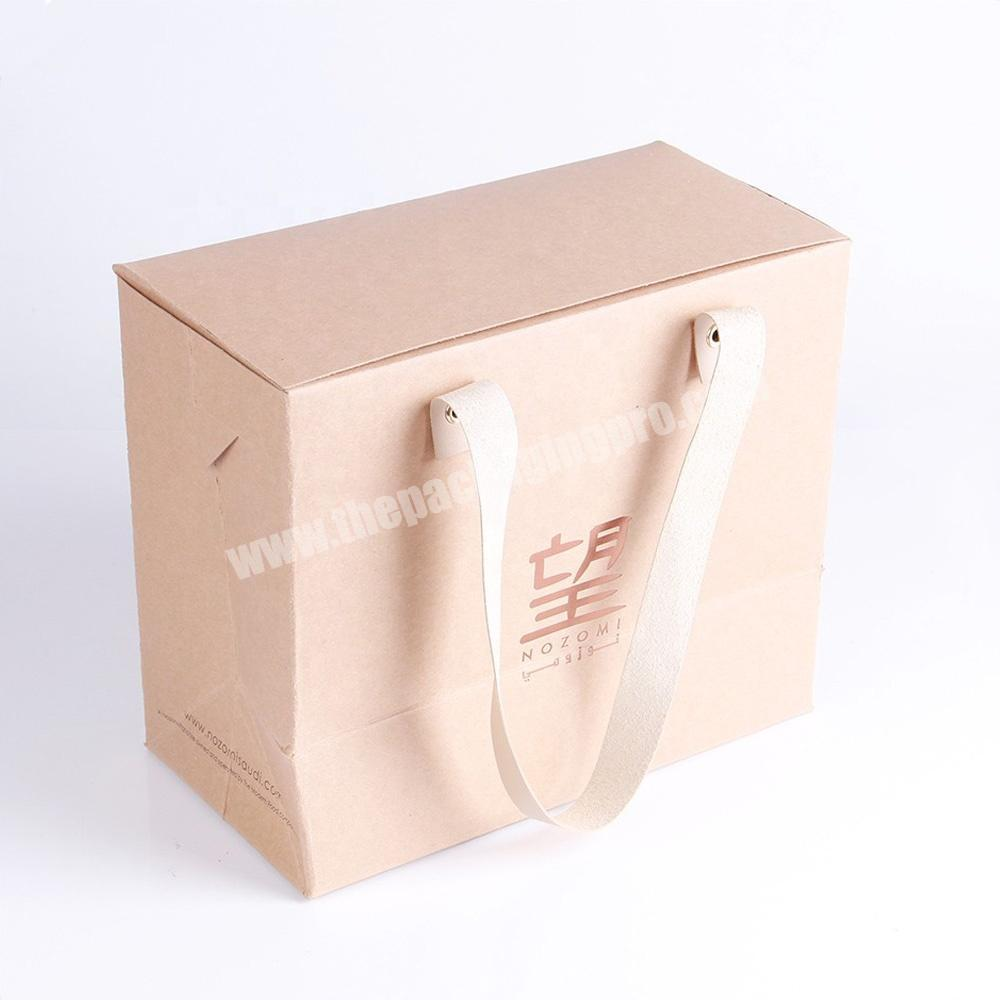 New products high end logo printed hand make customized PP rope kraft paper bottle wine bag